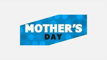 animação texto dia das mães sobre fundo branco moda e minimalismo video