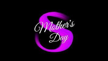 texto de animación día de la madre sobre fondo morado de moda y pincel video