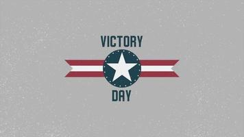 Animation text Victory Day on military background with airplane video
