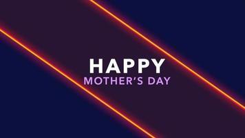 animação texto dia das mães sobre moda e plano de fundo do clube com triângulos verdes brilhantes