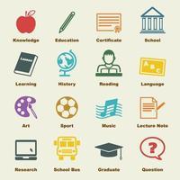 education vector elements