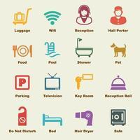 elementos de servicio del hotel vector