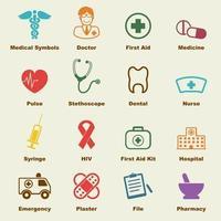 elementos de vectores médicos