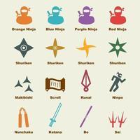 elementos vectoriales ninja vector