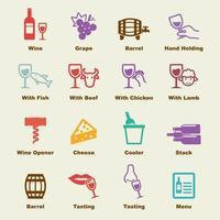 wine vector elements