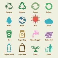 reciclar elementos vectoriales vector