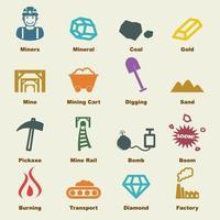 elementos de vector de minería