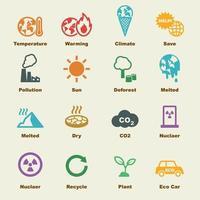 elementos de calentamiento global vector