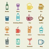elementos de vector de bebida