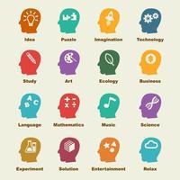 elementos de vector de creatividad