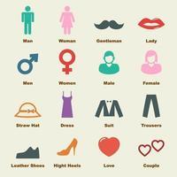 elementos de hombre y mujer vector