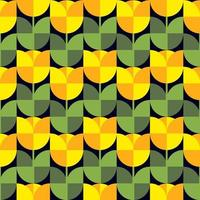 Abstract seamless pattern. Tulip flowers vector