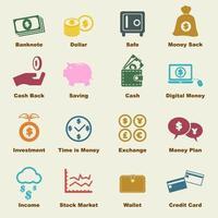 elementos de vector de dinero
