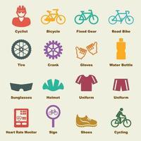elementos de vector de bicicleta