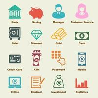 elementos de vector de banca