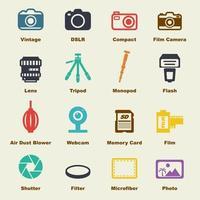 elementos de vector de cámara