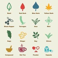 elementos de vector de hierba