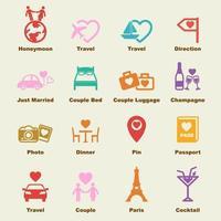 honeymoon vector elements