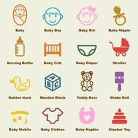 elementos de vector de bebé