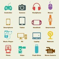 elementos de vector de gadget