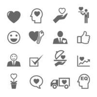 iconos de la mente de servicio vector