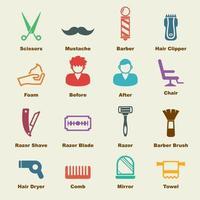 elementos de vector de peluquero