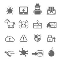 cyber crime icons vector