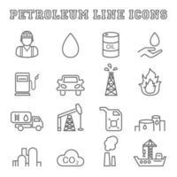 petroleum line icons vector