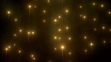 Slow-Motion Style Lights Rising with Foggy Atmosphere, Particles, Lens Flares and Depth of Field Effect