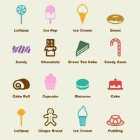 elementos vectoriales dulces vector