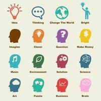 elementos de vector de idea