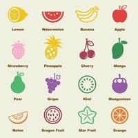 elementos de vector de fruta
