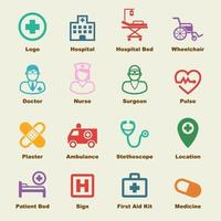 elementos de vector de hospital