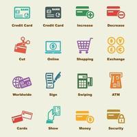 elementos de la tarjeta de crédito vector