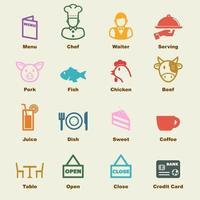 elementos de vector de restaurante