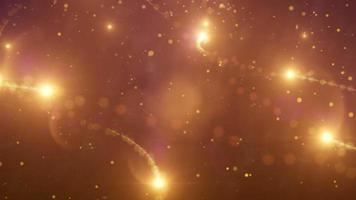 Dreamy and Magical Stylized Lights and Particles Swirl Animation Loop with Zooming out Camera, Lens Flares, and Soft Depth of Field Effect
