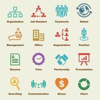 elementos de vector de organización