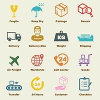elementos vectoriales logísticos
