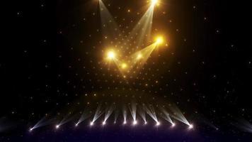 animação nítida de alta energia colorida com glitter no palco do clube