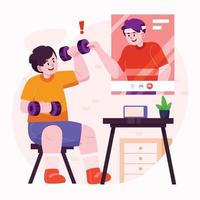 Online Personal Trainer Concept vector