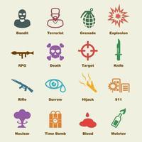 terrorism vector elements