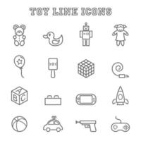 toy line icons vector