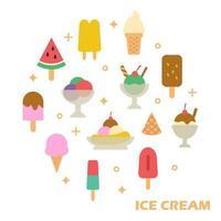 ice cream flat design vector