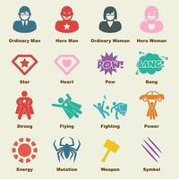 superhero vector elements