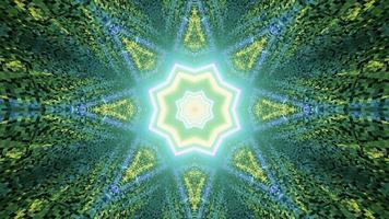 um túnel em forma de estrela verde ilustração 3 d video
