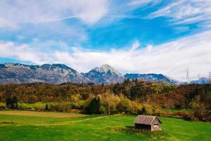 montañas de los alpes en eslovenia