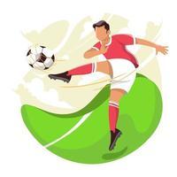 Man Kicking Ball Concept vector