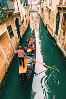 2017 Venice, Italy- Narrow streets and canals of Venice