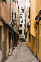 2017 Venice, Italy- Tourist routes of the old Venice streets of Italy