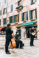 Venice, Italy 2017- Street musicians on the square of Venice